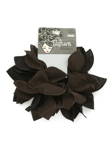 2-pack black and brown hair bands. (Available in a pack of 24)