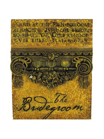 Bridegroom Plaque (Available in a pack of 12)