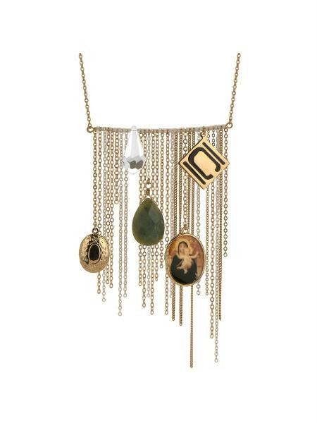Nikki Chu Gold Tone Opera Length Tassle Necklace (Available in a pack of 1)