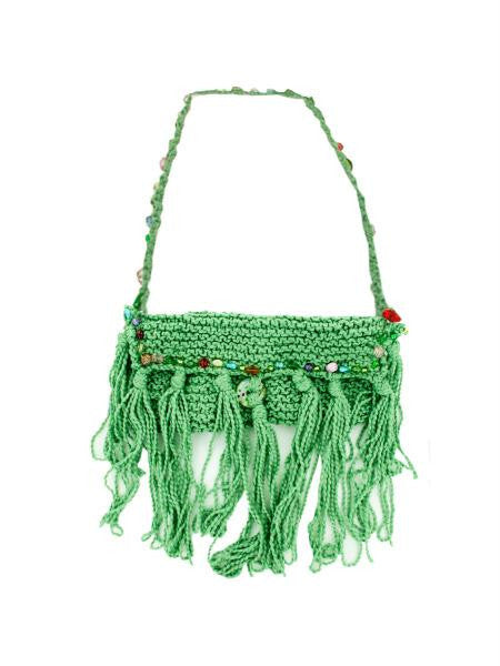 Hand Knit Bag with Colored Bead Lining (Available in a pack of 1)