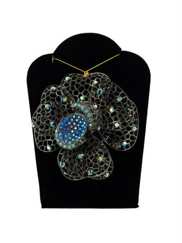 Jeweled Flower Necklace (Available in a pack of 6)
