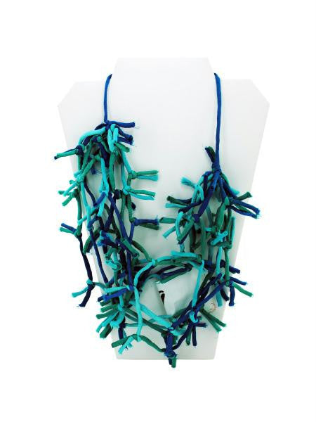 Turquoise Knotted Necklace (Available in a pack of 4)