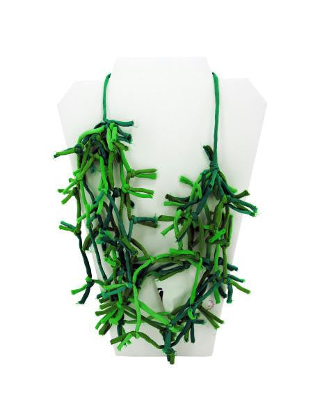Green Knotted Necklace (Available in a pack of 4)