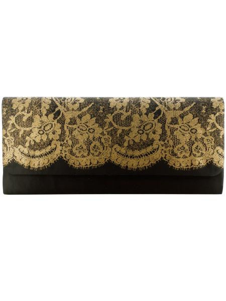 Ladies Clutch Bag with Lace Print (Available in a pack of 24)