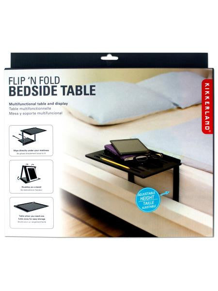 Flip 'N Fold Multi-Functional Bedside Table & Display (Available in a pack of 1)