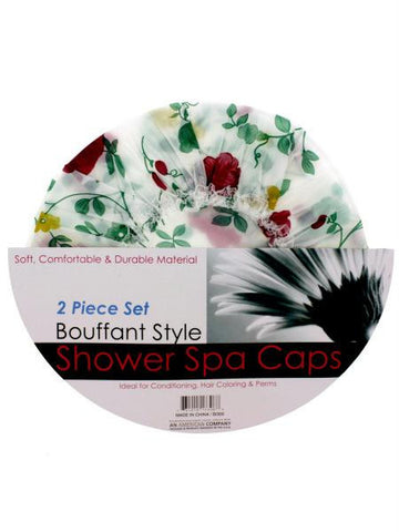 Bouffant Style Shower Spa Cap Set (Available in a pack of 12)