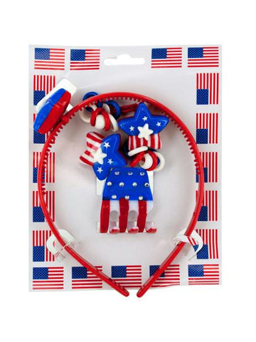 American Flag Hair Accessory Set (Available in a pack of 24)