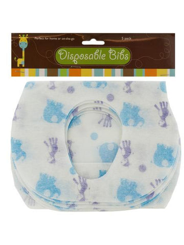 Disposable Absorbent Baby Bibs Set (Available in a pack of 12)