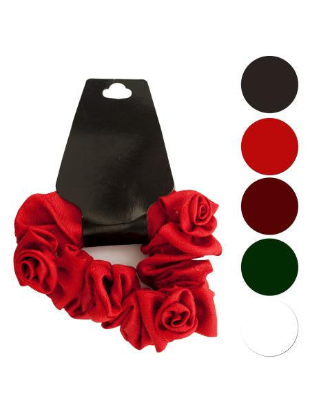 Mini Twisted Ruffle Rose Accent Hair Twister (Available in a pack of 24)