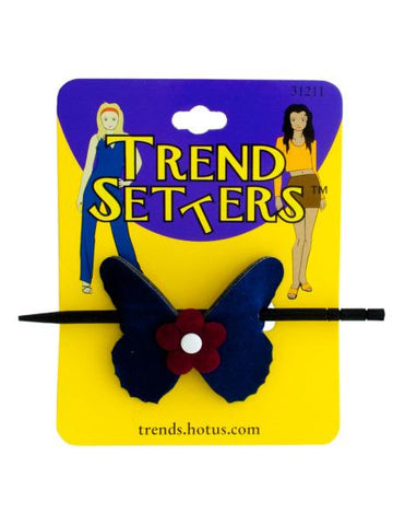 Butterfly Hair Clip with Wooden Stick (Available in a pack of 24)