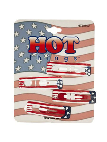 Stars and Stripes Barrettes (Available in a pack of 24)