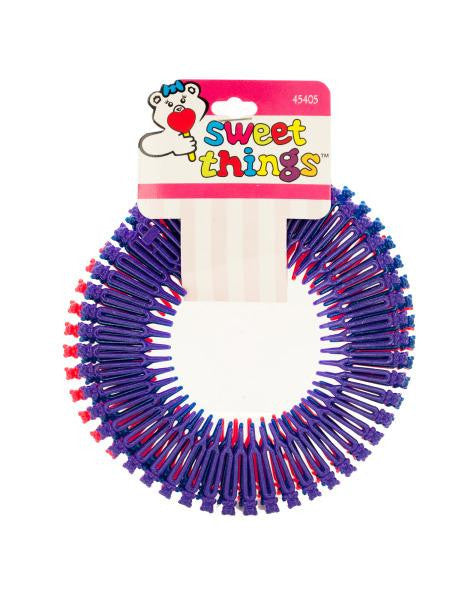 Teddy Bear Circular Flexible Hair Comb Headbands (Available in a pack of 24)