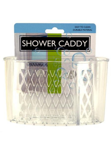 Transparent Shower Caddy with Suction Cups (Available in a pack of 24)