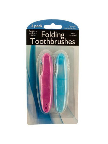 Folding Travel Toothbrushes (Available in a pack of 24)