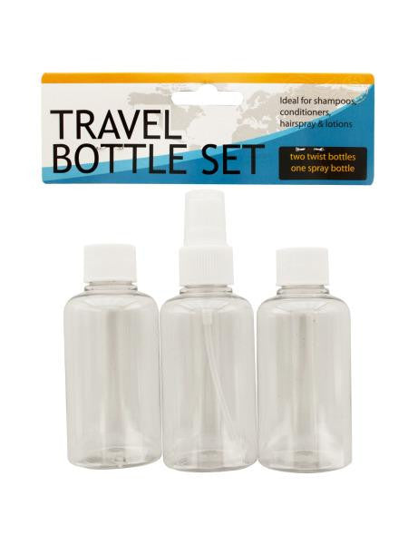 Travel Twist Top & Spray Bottle Set (Available in a pack of 24)