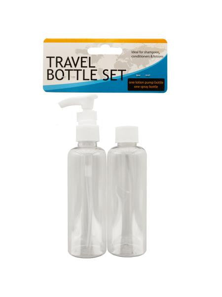 Travel Twist Top & Lotion Pump Bottle Set (Available in a pack of 12)