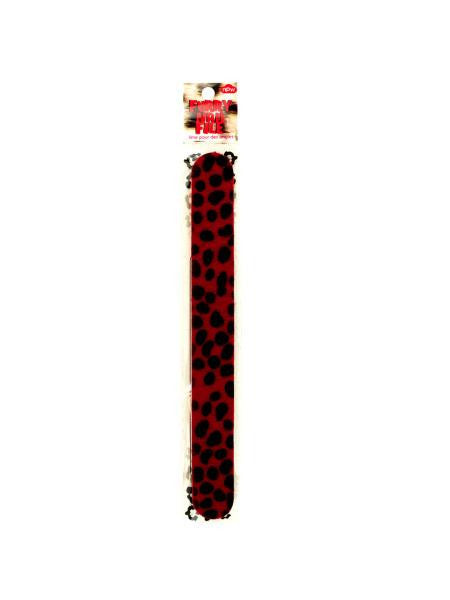 Red Furry Animal Print Nail File (Available in a pack of 24)