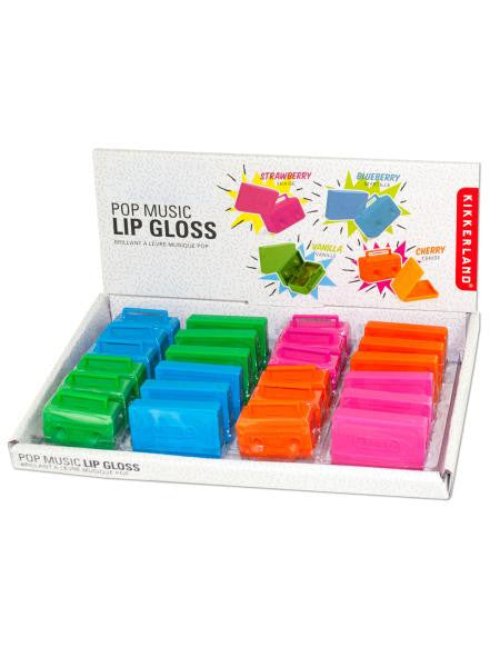 Pop Music Lip Gloss Countertop Display (Available in a pack of 24)
