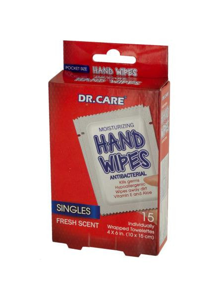 Moisturizing Antibacterial Hand Wipes (Available in a pack of 24)