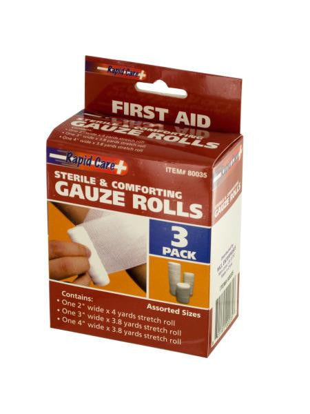 Sterile Gauze Rolls Set (Available in a pack of 18)