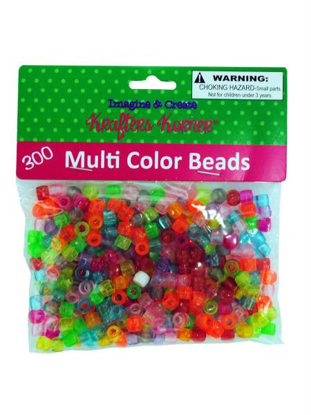 Multi-Color Crafting Pony Beads (Available in a pack of 24)