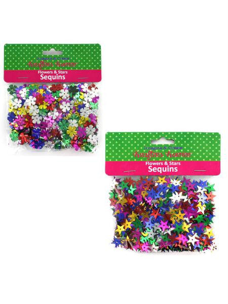 Flowers & Stars Sequins (Available in a pack of 12)