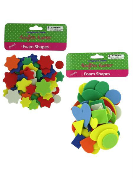 Foam Shape Craft Assortment (Available in a pack of 24)