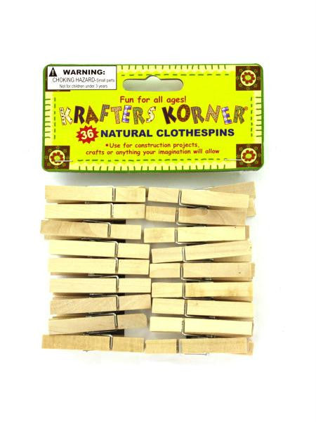 Natural Wood Craft Clothespins (Available in a pack of 24)