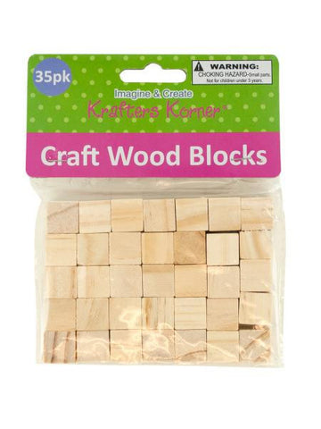 Natural Wooden Craft Blocks (Available in a pack of 24)