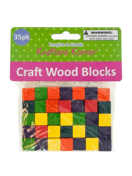 Colored Wooden Craft Blocks (Available in a pack of 24)