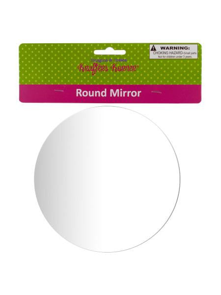 Round Craft Mirror (Available in a pack of 24)
