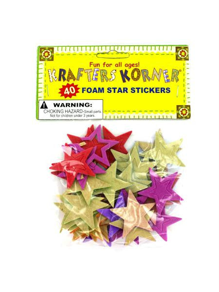 Foam Star Stickers (Available in a pack of 24)