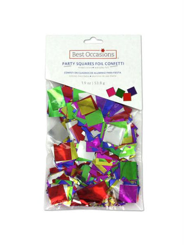 Foil confetti in squares, mixed colors (Available in a pack of 36)