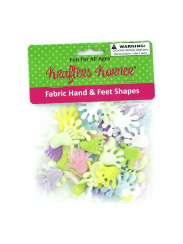Craft Fabric Hand & Feet Shapes (Available in a pack of 12)