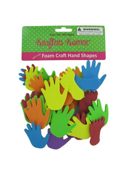 Foam Hand and Feet Craft Sticker Shapes (Available in a pack of 12)