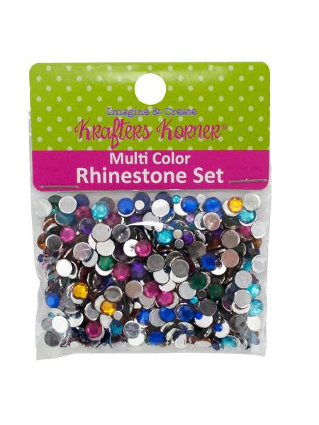 Multi-Color Rhinestone Set (Available in a pack of 25)
