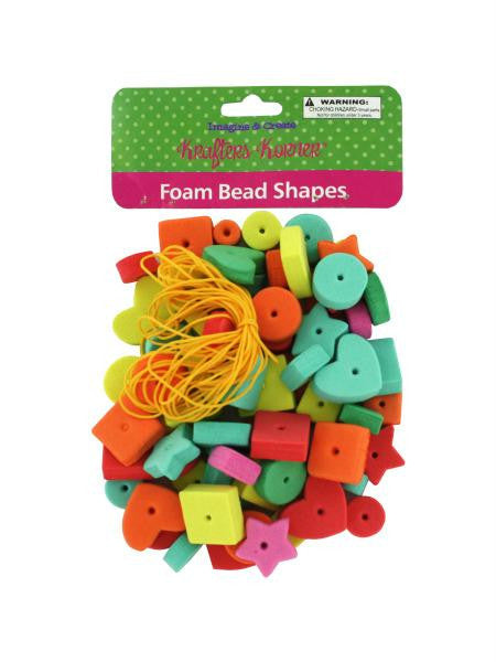 Foam Craft Beads (Available in a pack of 24)