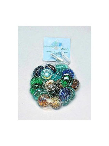 Decorative Colored Glass Stones (Available in a pack of 12)