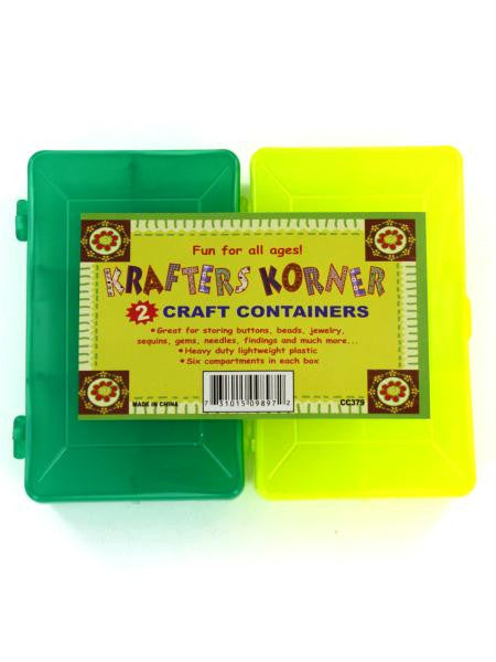 Craft Container Set (Available in a pack of 24)