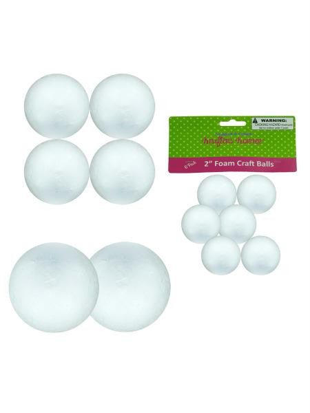 Large Foam Craft Balls (Available in a pack of 12)