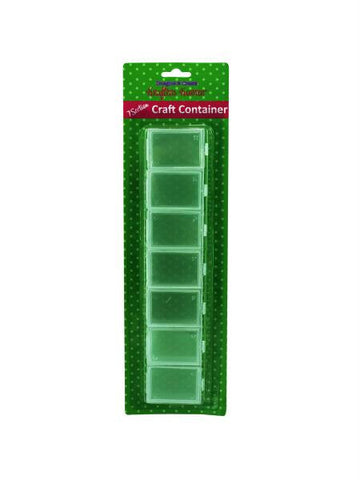 Seven Section Craft Container (Available in a pack of 12)