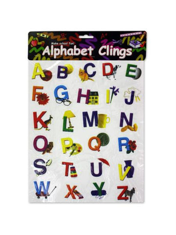 Alphabet window clings (Available in a pack of 24)