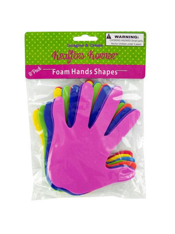Foam Craft Hands (Available in a pack of 24)