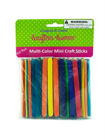 Multi-Color Mini Craft Sticks (Available in a pack of 25)