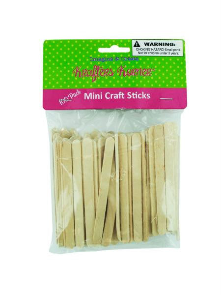 Mini Wood Craft Sticks (Available in a pack of 25)