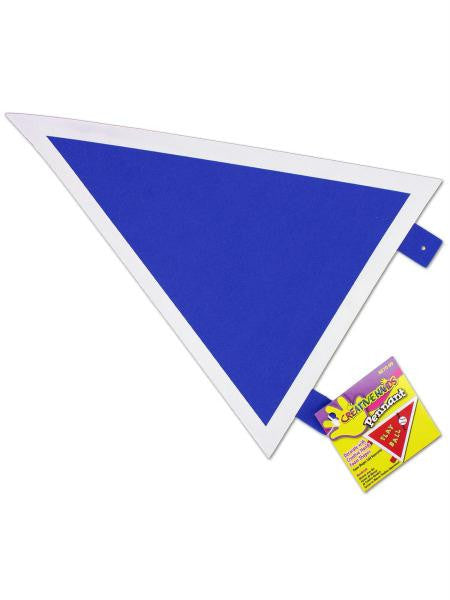 Foam pennant, assorted colors (Available in a pack of 24)