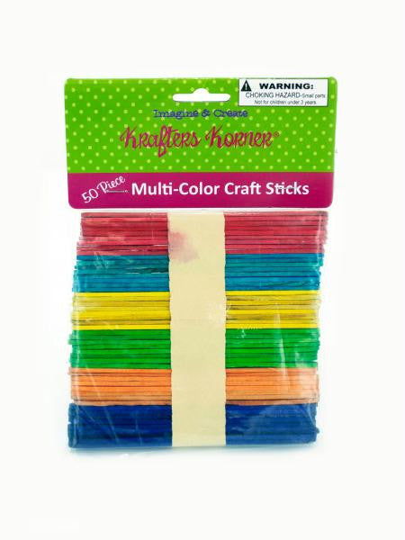 Multi-Color Craft Sticks (Available in a pack of 25)