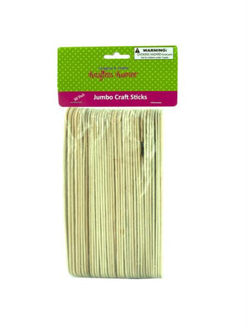 Jumbo Wood Craft Sticks (Available in a pack of 25)