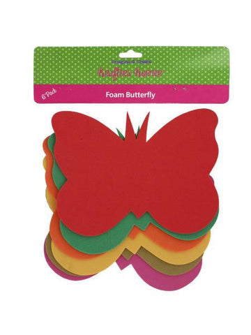 Foam Butterfly Craft Shapes (Available in a pack of 12)