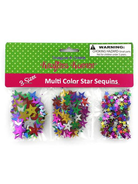 Star-Shaped Craft Sequins (Available in a pack of 24)